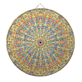 Fiesta Celebration Mandala In Desert Colors Dartboard