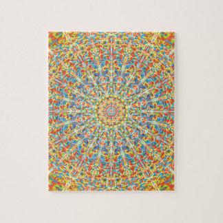 Fiesta Celebration Mandala In Desert Colors Jigsaw Puzzle