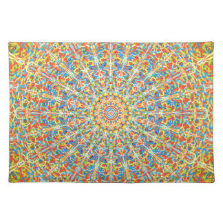 Fiesta Celebration Mandala In Desert Colors Placemat
