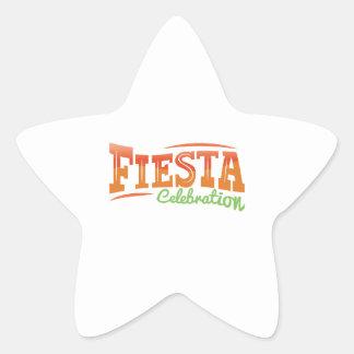 Fiesta Celebration Star Sticker