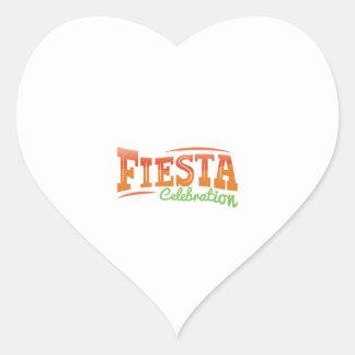Fiesta Celebration Heart Sticker