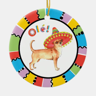 Fiesta Chihuahua Christmas Ornament