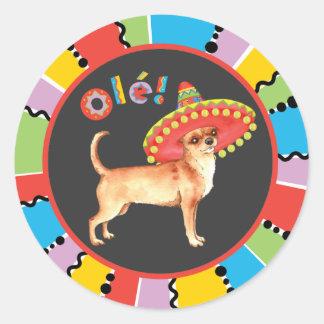 Fiesta Chihuahua Classic Round Sticker