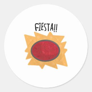 Fiesta Chips Round Stickers