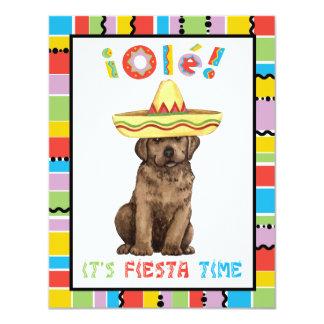 Fiesta Chocolate Lab 11 Cm X 14 Cm Invitation Card