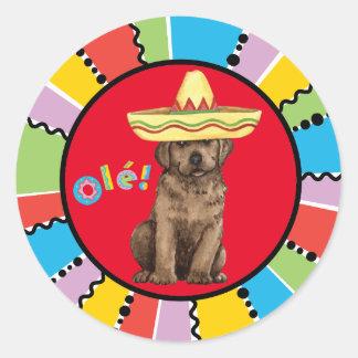 Fiesta Chocolate Lab Round Sticker