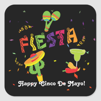 Fiesta Cinco De Mayo Celebration Custom Sticker