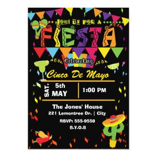 Fiesta Cinco De Mayo Mexican Party Invitation