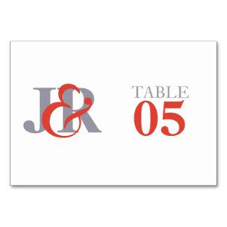 Fiesta | Contemporary Monogram Table Number