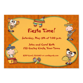 Fiesta Critters Invitation
