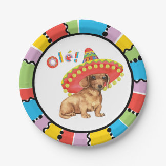 Fiesta Dachshund Paper Plate