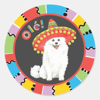 Fiesta Eskie Round Sticker