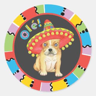 Fiesta Frenchie Round Sticker