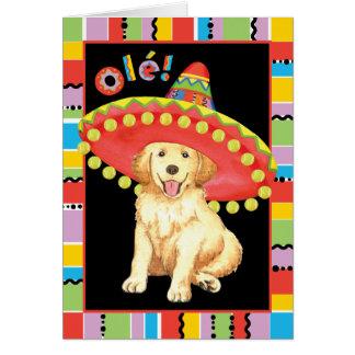 Fiesta Golden Retriever Card