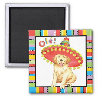 Fiesta Golden Retriever Magnet