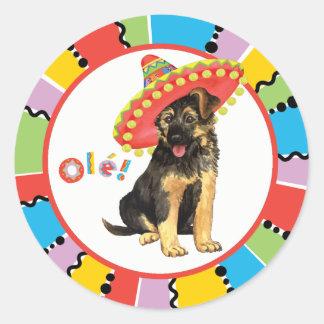 Fiesta GSD Round Sticker