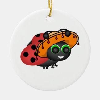 Fiesta Ladybug Christmas Ornament