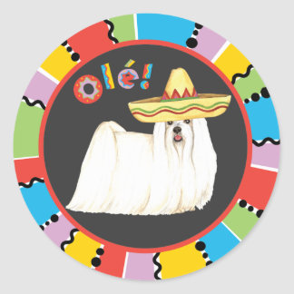 Fiesta Maltese Round Sticker