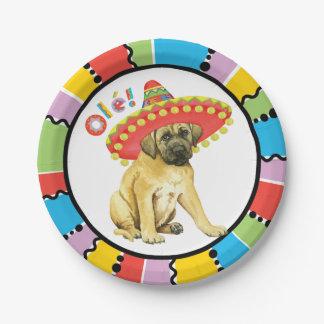 Fiesta Mastiff 7 Inch Paper Plate