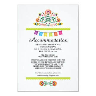 Fiesta Mexican Lime Accommodation Wedding Cards