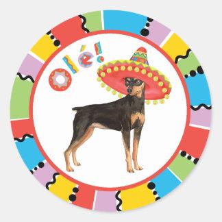 Fiesta Min Pin Round Sticker