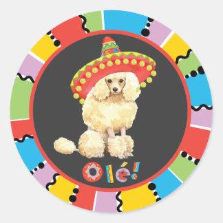 Fiesta Miniature Poodle Round Sticker