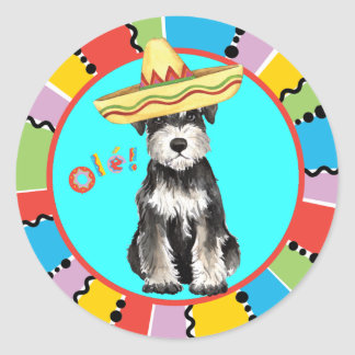 Fiesta Miniature Schnauzer Round Sticker
