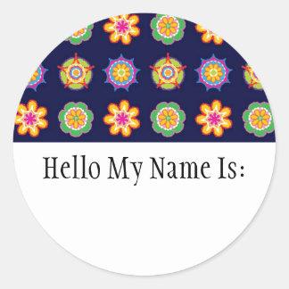 Fiesta Name Badge Sticker