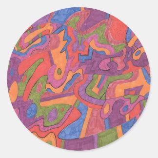 Fiesta, Original Abstract Sticker