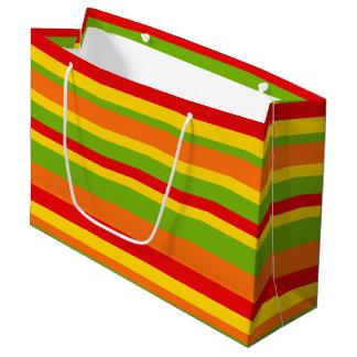 Fiesta party colorful stripe pattern bag