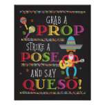 Fiesta Party Photo Prop Booth Poster