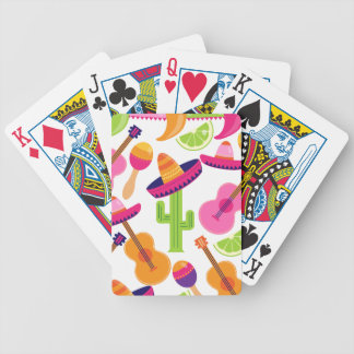 Fiesta Party Sombrero Cactus Limes Peppers Maracas Bicycle Playing Cards