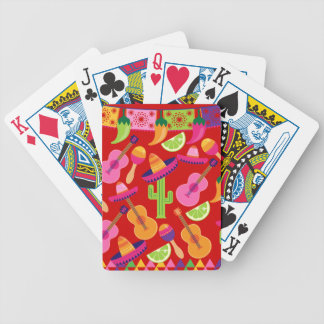 Fiesta Party Sombrero Limes Guitar Maraca Saguaro Bicycle Playing Cards