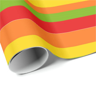 Fiesta party stripe pattern colorful wrap wrapping paper