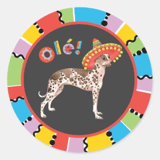 Fiesta Peruvian Inca Orchid Round Sticker