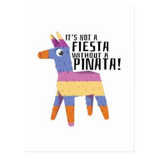 Fiesta Pinata Postcard
