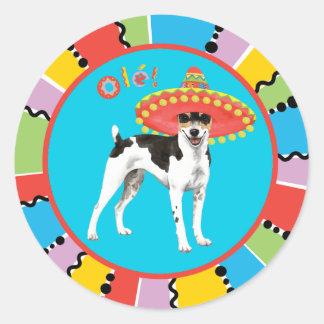 Fiesta Rat Terrier Round Sticker