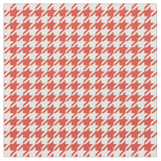 Fiesta Red & White Houndstooth Fabric