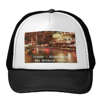Fiesta ~ River Walk San Antonio Texas Trucker Hats