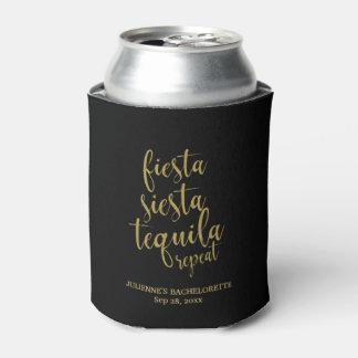 Fiesta Siesta Tequila Repeat Glitter Bachelorette Can Cooler