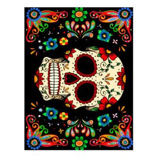 Fiesta Skull Postcard