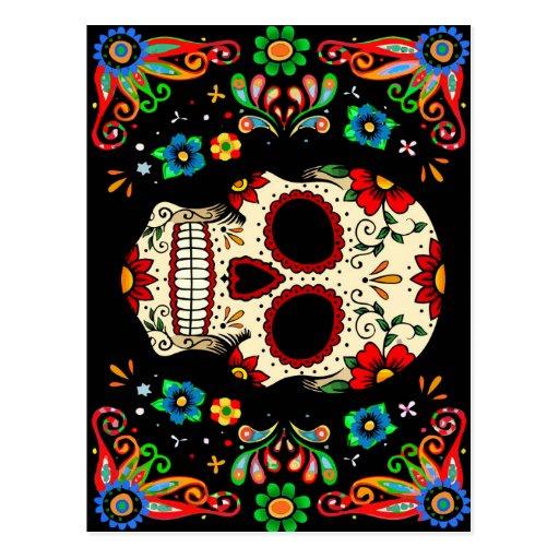 'Fiesta Skull Postcard