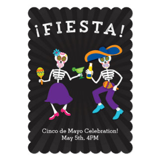 Fiesta Skulls Party Invitation
