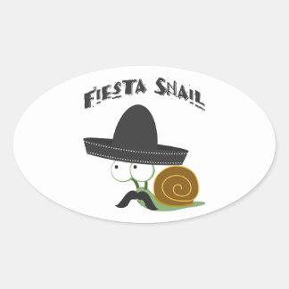 Fiesta Snail Oval Sticker