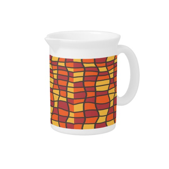 Fiesta Stained Glass Beverage Pitcher