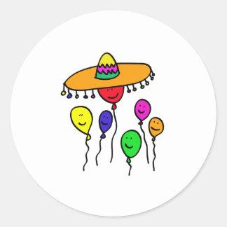 Fiesta Round Sticker