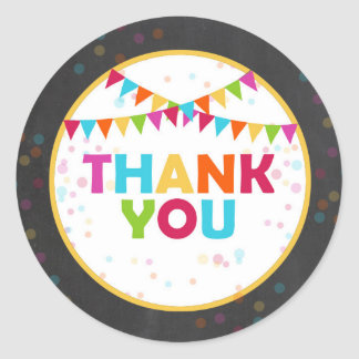 Fiesta Thank You Tags Mexican Cupcake Toppers Round Sticker