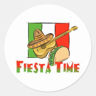 Fiesta Time Classic Round Sticker