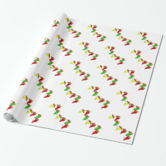 Fiesta Time! Dancing Chili Peppers Wrapping Paper