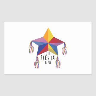 Fiesta Time  Hat Rectangle Stickers